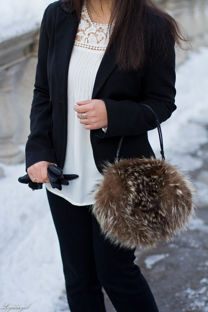 white blouse, black blazer, fur ball bag-9.jpg