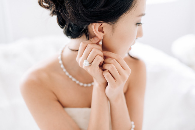 White wedding, style shoot, Multifolds, Tangyong Makeup, Heaven in Wild Flower, pure, flowers, white on white, wedding, jewellery, Melissa Celestine Koh, Truly Enamoured, Tiffany and Co Jewellery