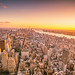 New York City Skyline Sunset - Looking Towards Flatiron and 1 WTC by Vivienne Gucwa