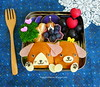 Puppy Pals Mini-Sandwiches Ecolunchboxes Bento by sherimiya ♥