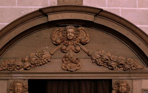 Cappenberg, Westfalen, Stiftskirche, confessional, detail