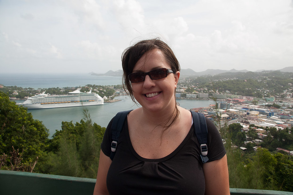 Me at panoramic lookout point in St. Lucia