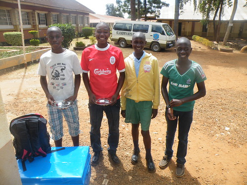 Cosmos joins his classmates in Form 1 @ St Joseph's Kitale