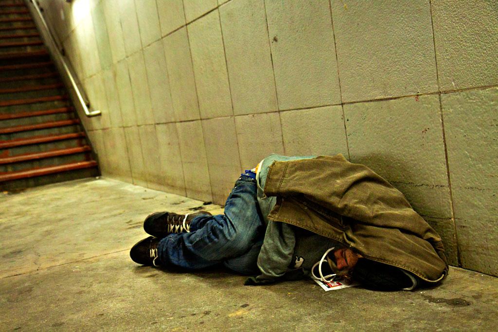 Man-inside-subway-concourse-on-2-23-15--Center-City