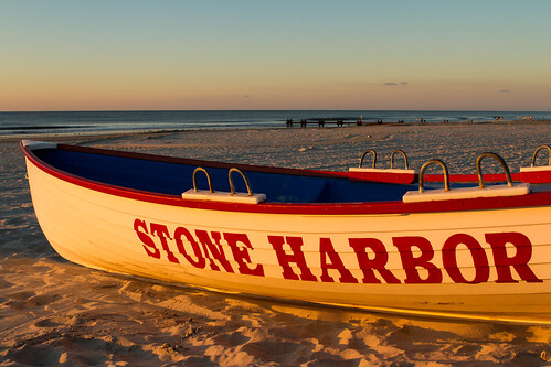 ocean vacation beach sunrise boat newjersey unitedstates nj stoneharbor jerseyshore