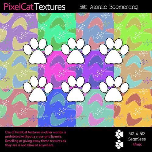 PixelCat Textures - 50s Atomic Boomerang
