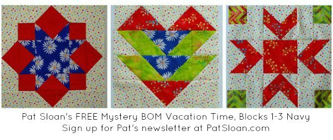 Pat Sloan vacation time block navy blocks set