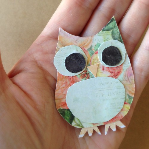 Strong Arts and Crafts Spring Owl - Journal art