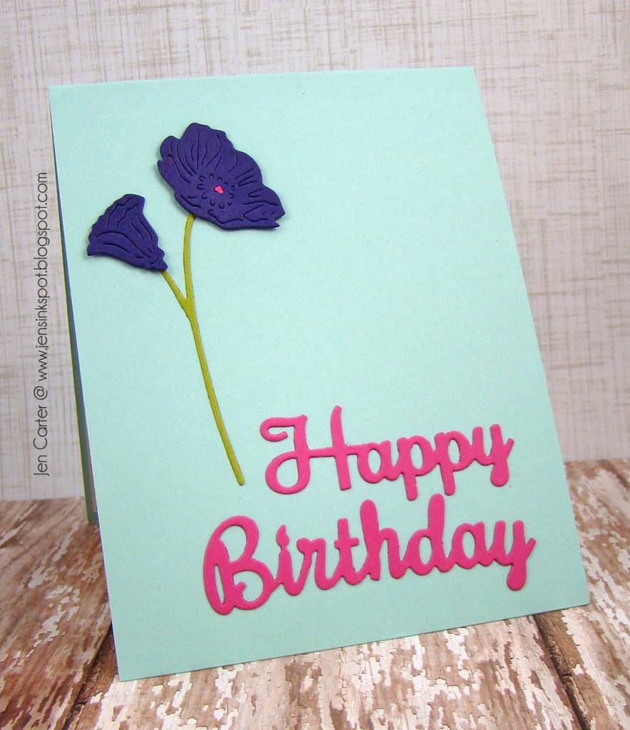 Jen Carter Frantic Stamper Pop Up Peonies Birthday
