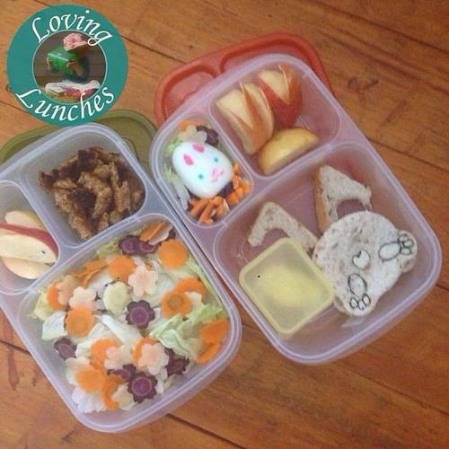 Loving a practice run on our #mummyandme lunch for my #bento demonstration next week… Learn to make these 'Some Bunny Loves You' lunches through the Emerald Neighbourhood Centre's Day2Day Living program. Message me for more info 😃🐇