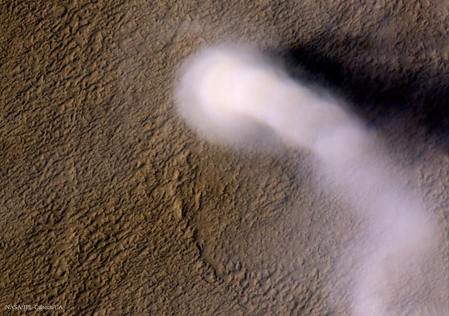 A Dust Devil on Mars