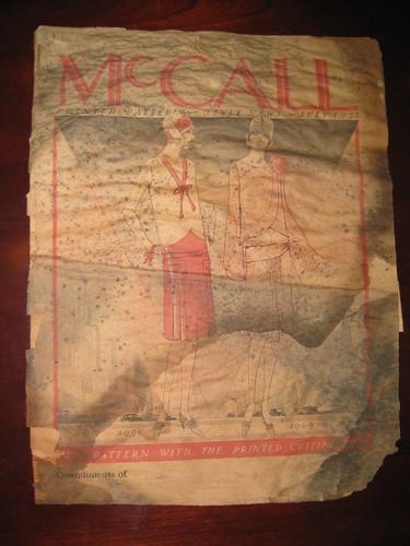 McCall Pattern Magazine July 1927 pg 1