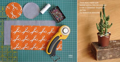 D.I.Y: Mini cestinhas de tecido para mini suculentas!
