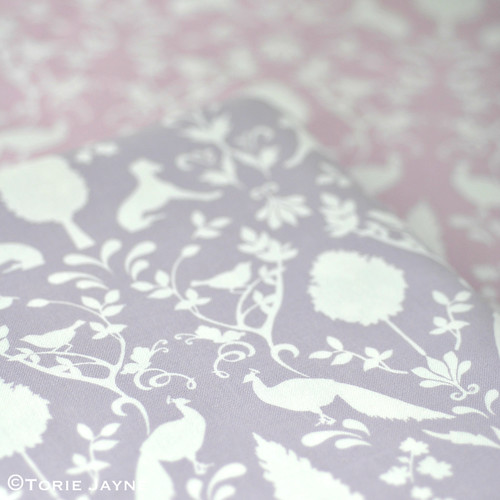 Peacock Hill Fabric in mauve