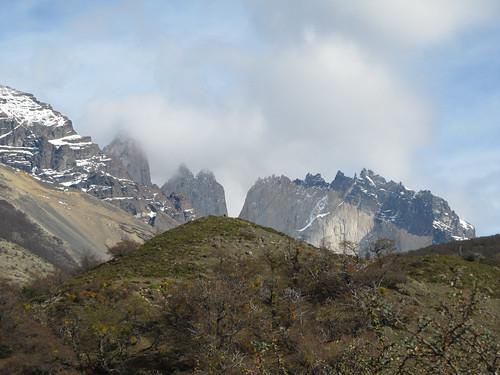 Torres del Paine: trek du W. Jour 1: les Torres vues de notre camping.