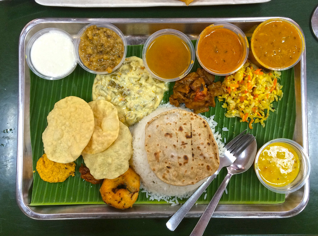 South Indian set meal