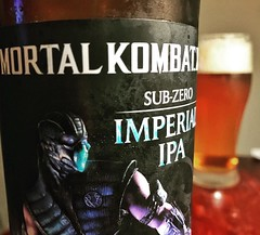 Sub-Zero was always my favorite character back when my mom told me I want allowed to play such a nasty game. @soundbrewery Mortal Kombat is solid. #craftbeer #goodbeer #mortalkombat #mortalkombatbeer #beerstagram #finishhim