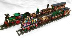 LEGO 10254 Winter Holiday Train Custom Wagons for Winter Village