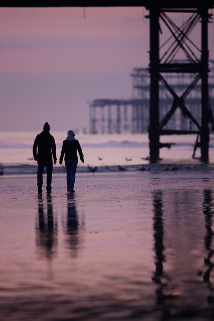 Romantic Stroll, Brighton beach