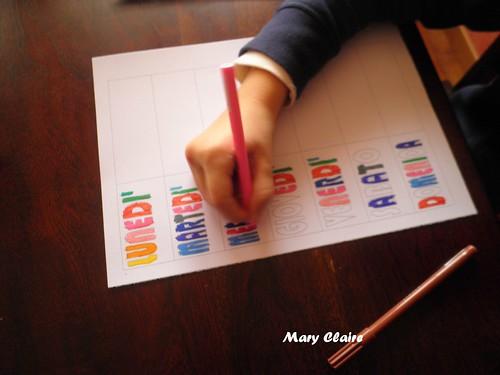 tabella da colorare