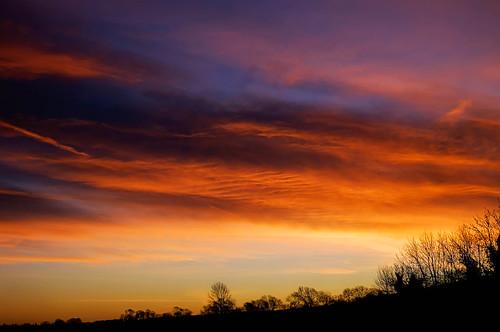 pink red england orange clouds sunrise colours unitedkingdom 12365 smeetonwesterby
