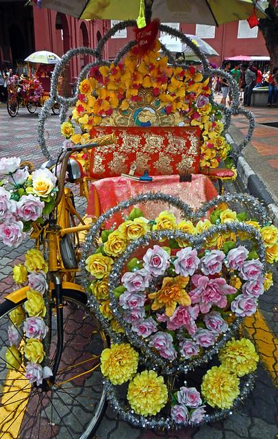 Decorated Rickshaw in Melaka, Malaysia