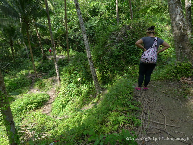 One of the steep parts of the trail. Hiking to Pampam Falls and Kalubihon Falls in Iligan City, Philippines