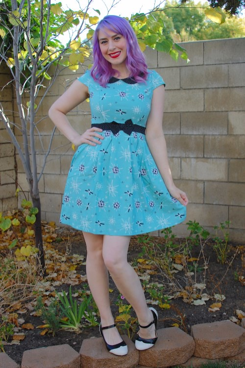 Sourpuss Clothing Lizzie dress in Sputnik print 022