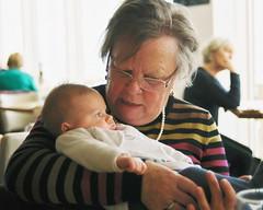 child, infant, people, male, senior citizen, grandparent, person,