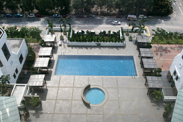 There's two pools - lap pool and shallow round pool
