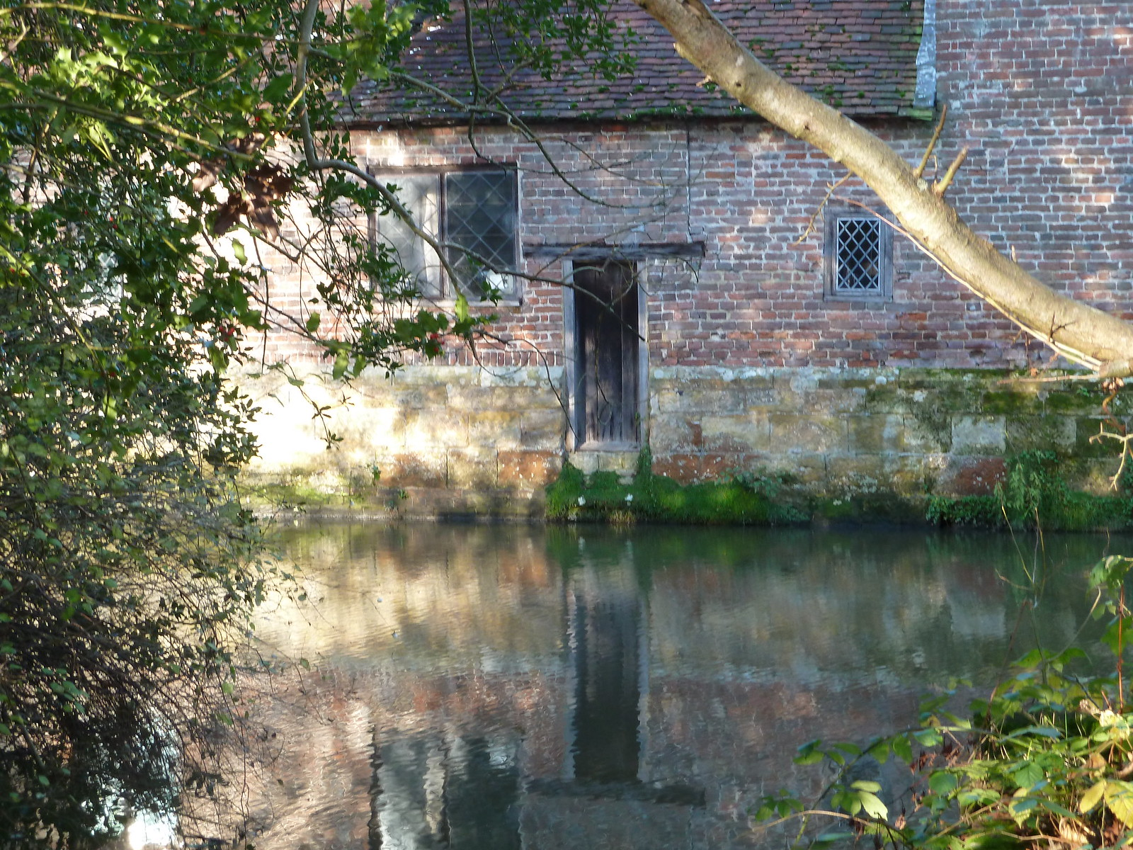'A Moated Manor' (Eridge Circular) Jacobean manor surrounded by medieval moat.