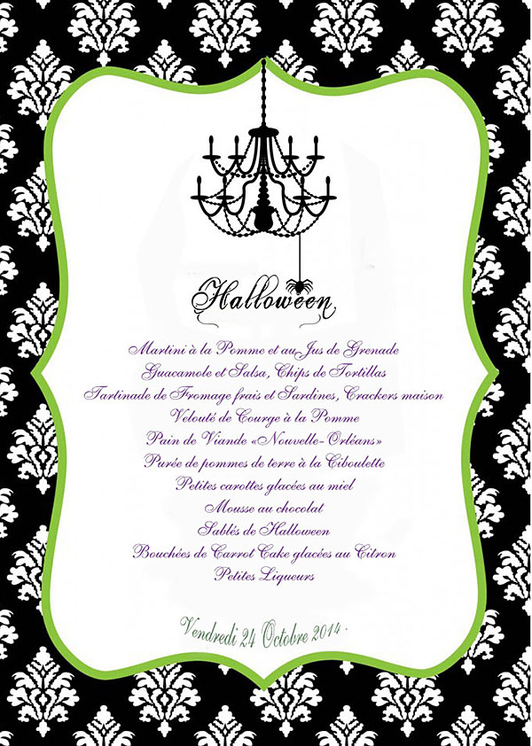 menu Hallowen
