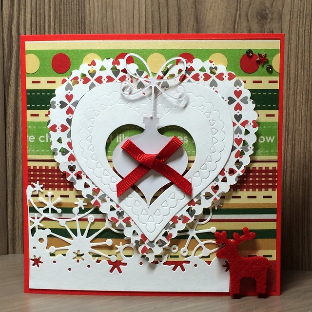 Christmas crafting - Christmas love card