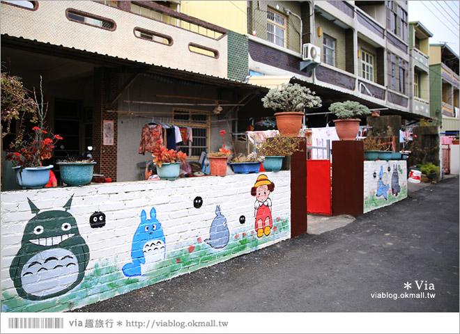 【大內龍貓公車站】台南龍貓公車站彩繪村~來去大內區石林里,陪龍貓等公車去!18