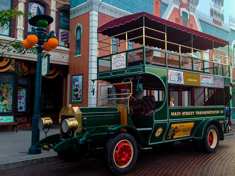 Main Street Transportation during Halloween at Disneyland Paris