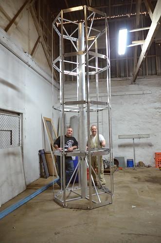 Central body section (Sascha Grant & Jase Batey) - V2 Build Day 16th Mar, 2014