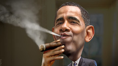 Barack Obama - Enjoying a Cuban