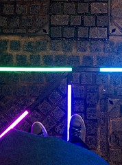 Neon underfoot