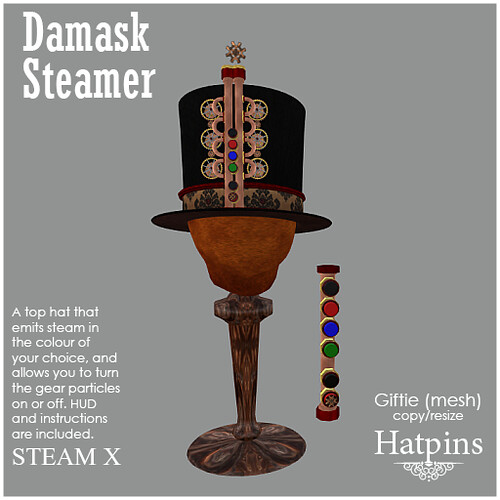 Hatpins - Steam X Top Hat
