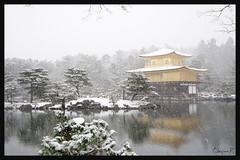 日本京都-金閣寺-雪.35