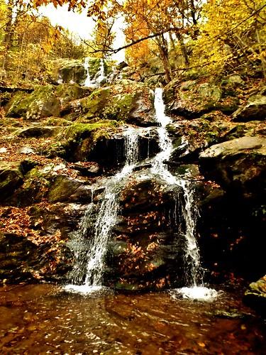 autumn fall water yellow waterfall fujifilm darkhollowfalls cameronharper