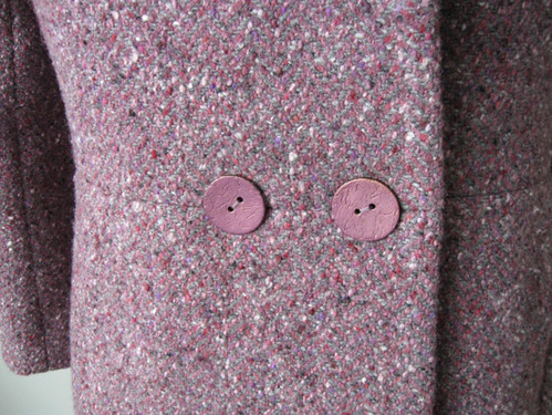 Burda Plum coat buttons