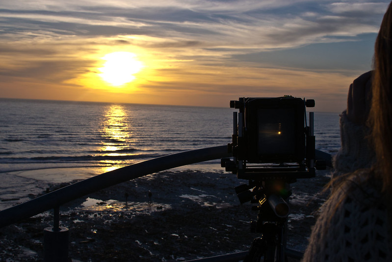 birling gap at sunset photography