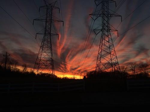 sunset sky skyline landscape sunsets maryland powerlines iphone skyonfire montgomerycounty laytonsville fierysunset vsco iphoneography vscofilm vscocam