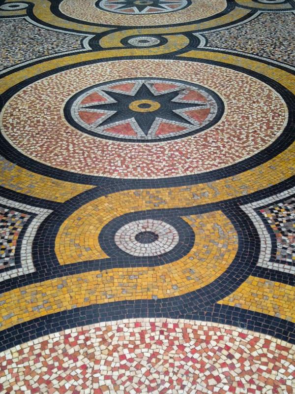 Tiled Floor in Galerie Vivienne