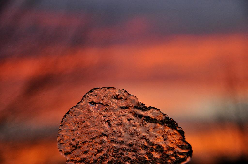 sunset & ice