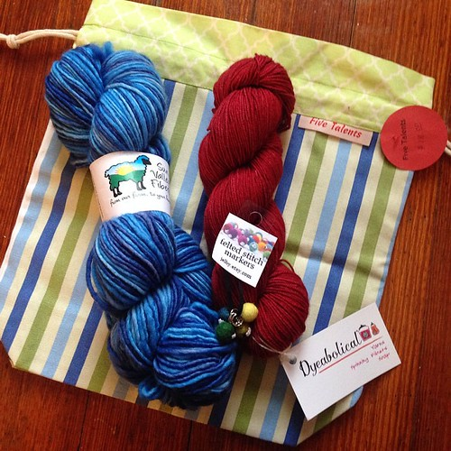 Don't forget to #treatyoself15. Plenty of time to finish a spoil-yourself knit. Just post your FOto in our Ravelry group by March 31. Thanks, @carys14, @sunvalleyfibers, @dyeabolicalyarn, and @fivetalentsstore for the awesome prizes!