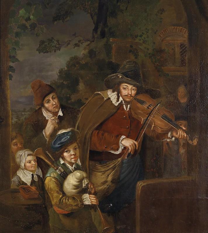 Christian Wilhelm Ernst Dietrich - The Wandering Musicians (c.1745)