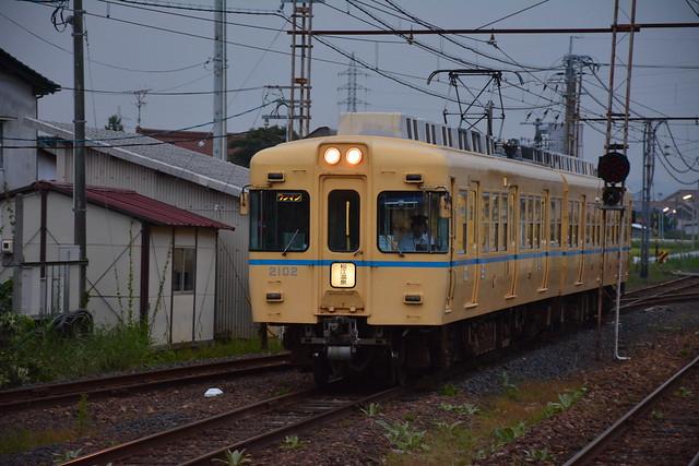一畑電車2102:川跡駅