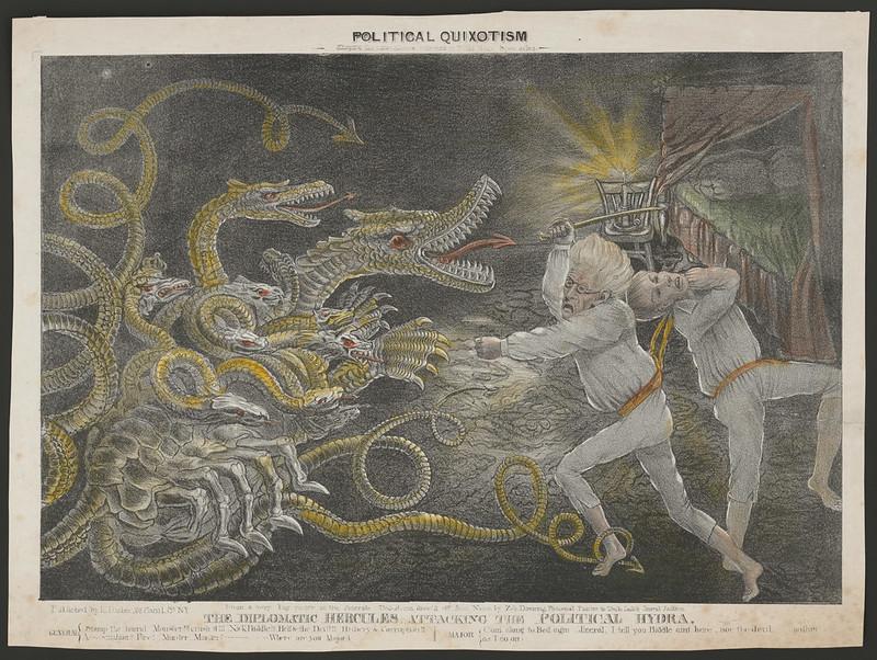 Ezra Bisbee - Political Quixotism, 1833